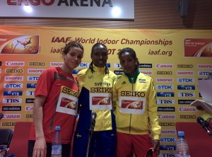 The original three 1500 medallists at 2014 World Indoors