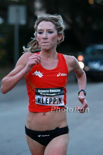 Laure Kleppin in Houston earlier this year. *More 2014 Houston Half Marathon Photos