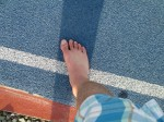 My Foot Was On Bolt's Track