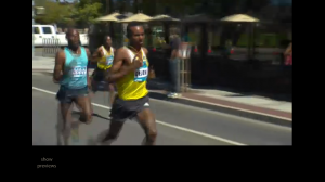 Dejen Gebremeskel pulls away from Lagat