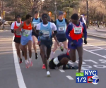Mo Farah Falls Down (For a full photo gallery of the fall click here)