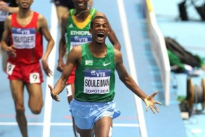 The World Indoor champ was on top of his game once again today