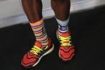 Some rad socks. (Credit: Jean-Pierre Durand - IAAF)