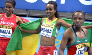 Genzebe Dibaba World 3000m Champion