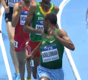 Souleiman had time to look over his shoulder