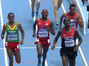 The Finish Showing Ndiku Wearing a Hat Indoors