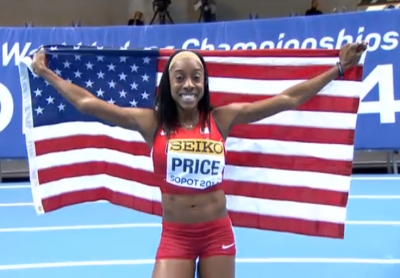 Chanelle Price won the U.S.'s sole distance gold two years ago but has yet to qualify for this year's championships