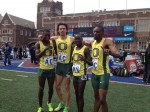 Oregon celebrates DMR win via @thepennrelays