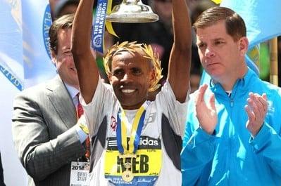 When Meb won his marathon majors, he beat legitimate fields