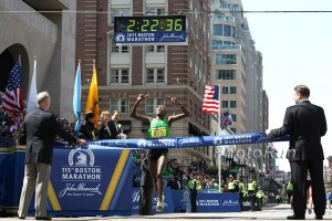 Caroline Kilel won in Boston in 2011. 2011 Boston Photos