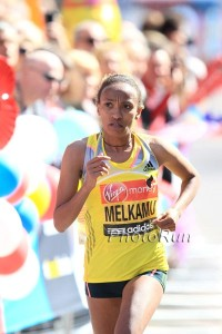 Meselech Melkamu will need to run than she did in London 2013. *2013 London Photos