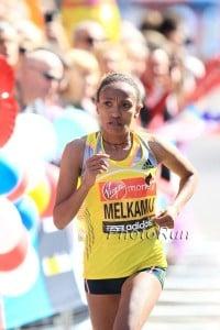Meselech Melkamu will need to run than she did in London 2013. *2013 London Photos