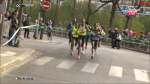 Bekele and the lead pack before halfway