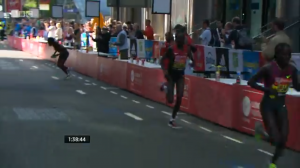 Dibaba stops after the drop