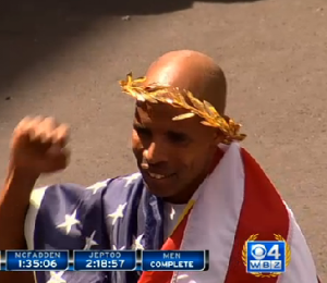 Meb with Laurel Wreath