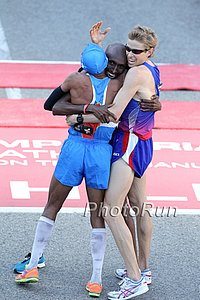 Abdi Celebrates Making the 2012 Olympic Team