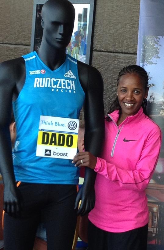 Firehiwot Dado at 2014 Prague Marathon