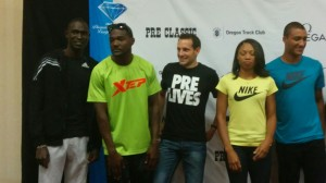 David Rudisha (far left) on Friday