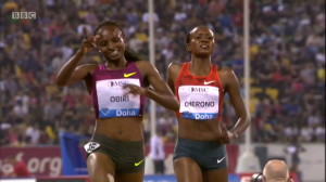 Hellen Obiri and Mercy Cherono