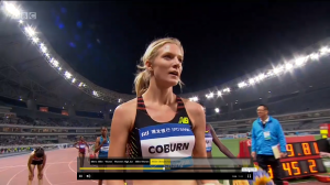A look of disbelief after the race