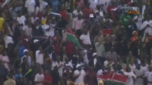 The Kenyan and Ethiopian Expats made a raucous crowd.