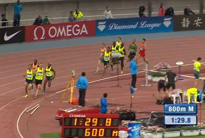 A Four Way Race final 100m