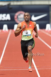 Tyson Gay at the 2012 Olympic Trials, Just Days Before We are to Believe He Started Doping