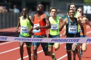 Amos beat Aman and Rudisha at Pre; who will win the rematch in Monaco?
