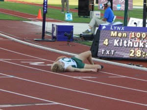 Parker Stinson Exhausted After the Race