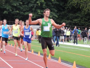 Wheating was back in the winners' circle at the Portland Track Festival
