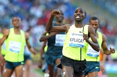 Kiplagat celebrates his win in Rome earlier this year