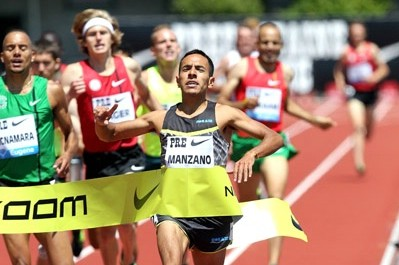 Manzano won the International Mile at Pre and claimed his second US title a month later.