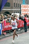 Mo Trafeh at the 2011 London Marathon, which he briefly led.