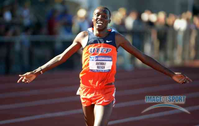 Anthony Rotich celebrating last year