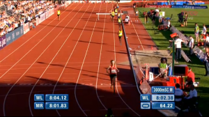 Jager finishes second, way ahead of the rest of the field