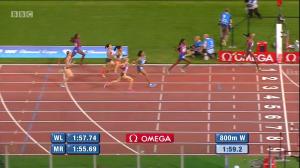 Women's 800m Finish in Rome