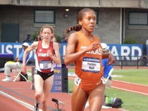Marielle Hall was all business after she won NCAAs two weeks ago