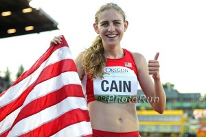 Mary Cain Celebrates Gold (click for photo gallery)
