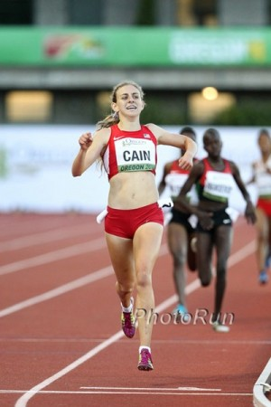 Cain earned a historic gold for Team USA in the 3,000 in 2014