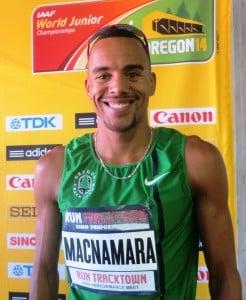 Jordan McNamara after winning (photo by Chris Lotsbom for Race Results Weekly)