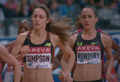 Jenny Simpson and Shannon Rowbury in Paris