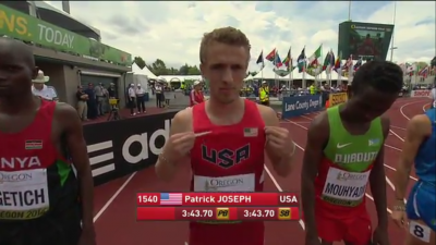 Joseph was proud to represent the U.S. on home soil