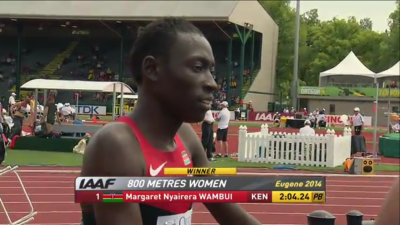 Wambui after the race