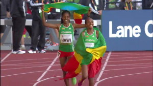 Heroye and Hawi soaked it in on their victory lap