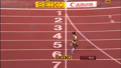 A strange 100 meter finish