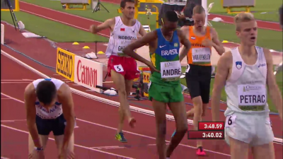 Ghachoui was upset after the race