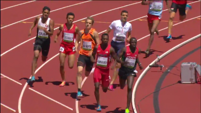 Kipketer and Kinnaird ran side-by-side for much of this race