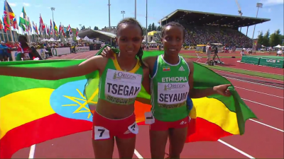 Ethiopia went 1-2 for the third time at these championships