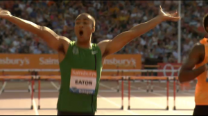 Eaton Celebrates at the Finish