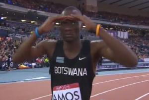 Amos was joking around before his heat
